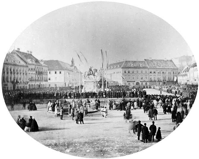 Povijest grada Zagreba 16_1866_spomenik_ban_Jelacic_Zagreb