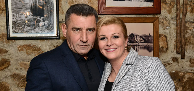 Kolinda Grabar-Kitarovic with cool, Husband  Jakov Kitarović