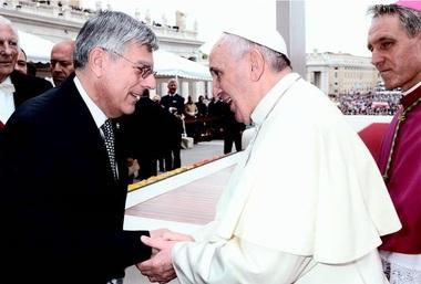 Akademik Željko Reiner i papa Franjo