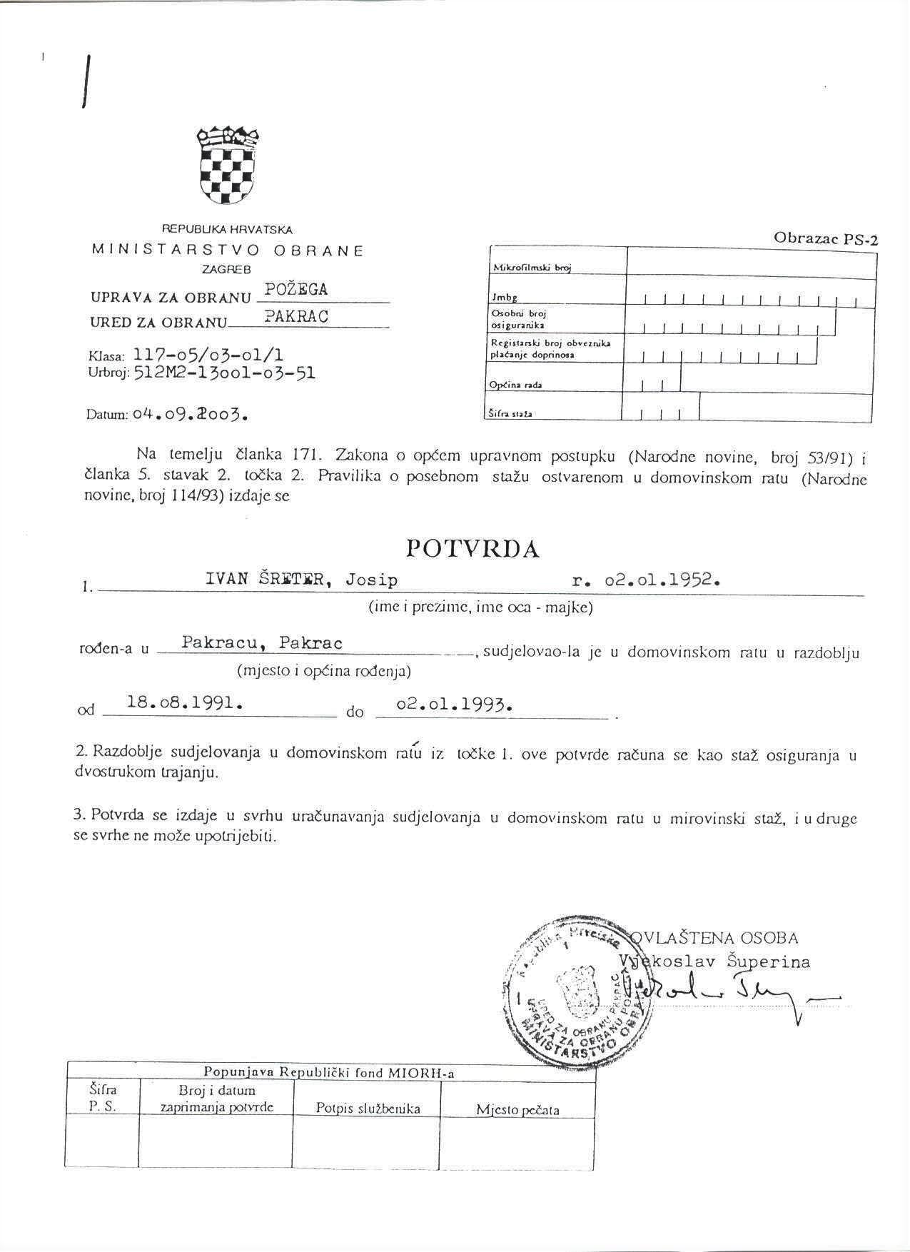 5 Sreter status hrvatskoga branitelja2