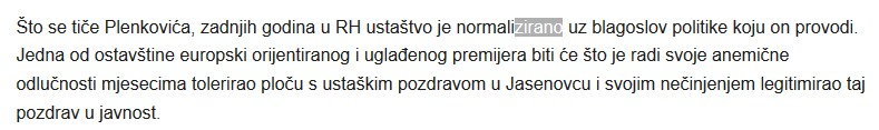 Plekovic ustasa