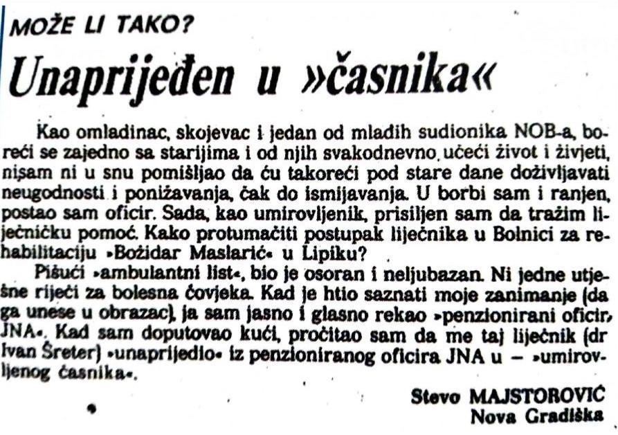 Clanak Steve Majstorovica