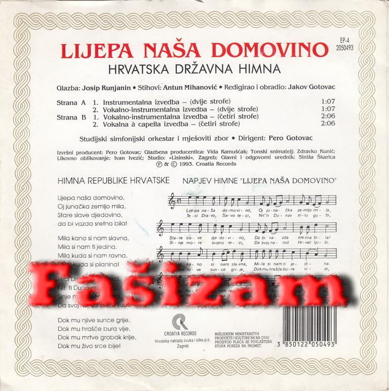 Hrvatska himna fasizam