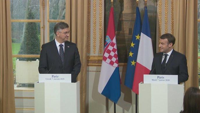 Plenković Macron