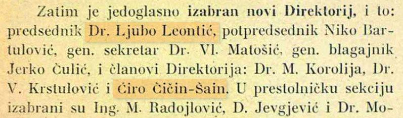 Dr. Ljubo Leontić - direktorij