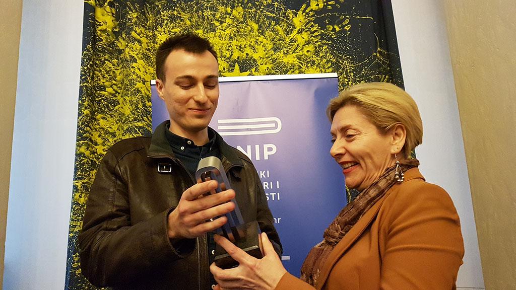 Matija Štahan dobitnik godišnje nagrade HNiP-a