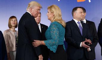 Kolinda Grabar Kitarović i Donald Trump